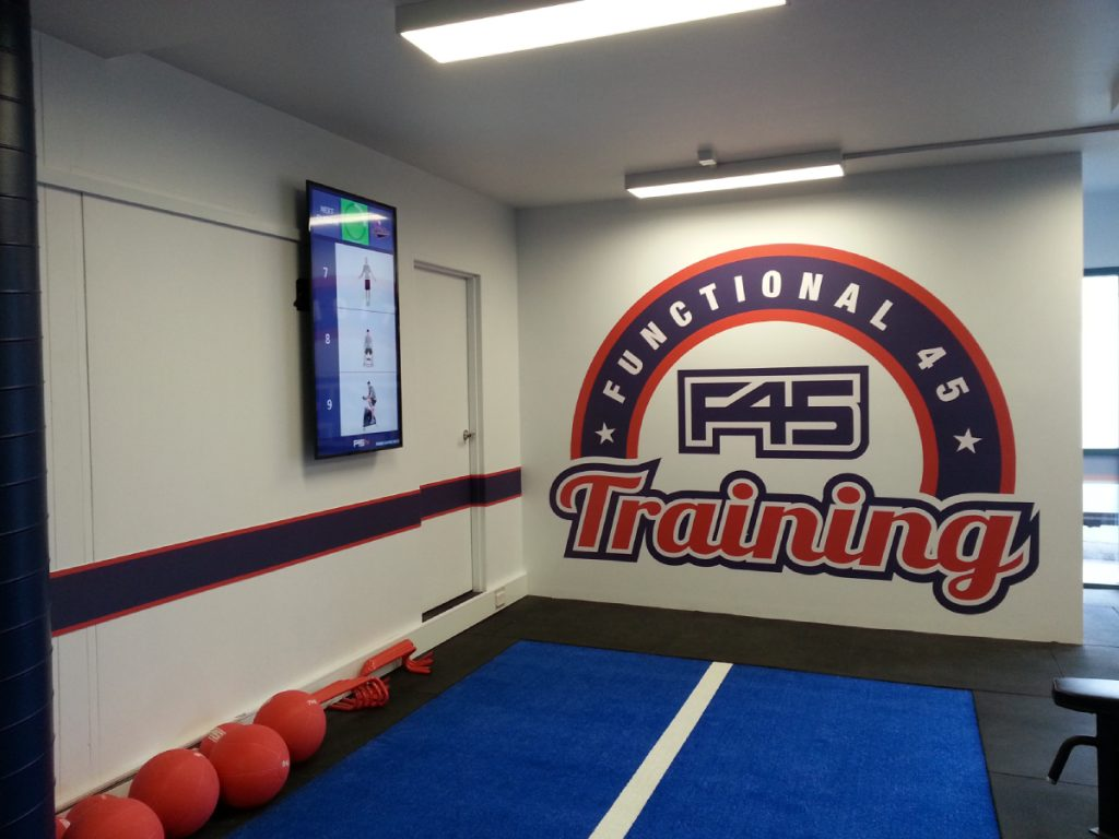 F45 Wall Graphics Barrenjoey Designs