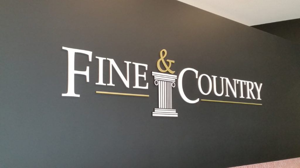 Fine & Country wall signs Barrenjoey Designs