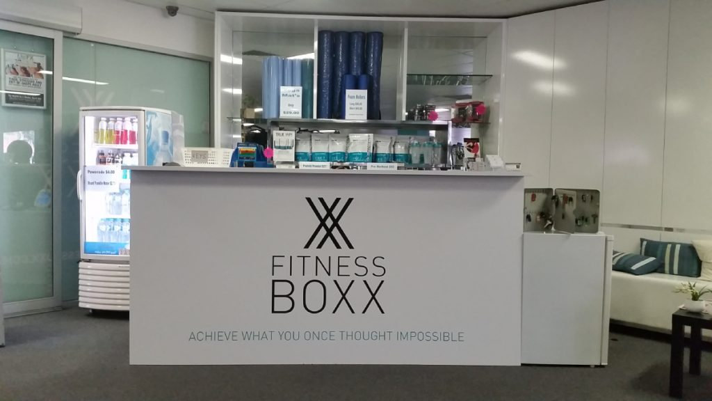 Fitness Boxx Reception Signage Barrenjoey Designs