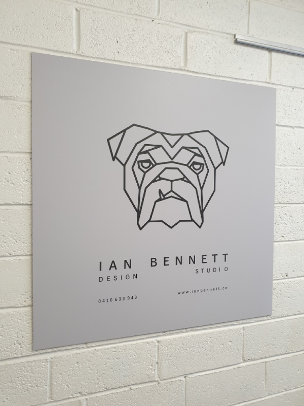 Ian Bennett Design Studio Vinyl on ACP Sheet